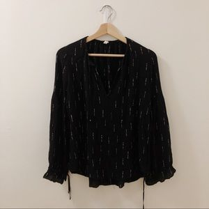 Gentle Fawn Black Peasant Top